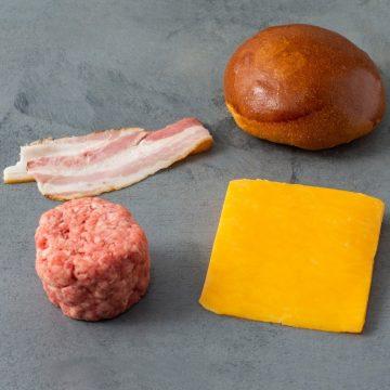 Kit 481 Burger Smash Pão Carne, Queijo e Bacon