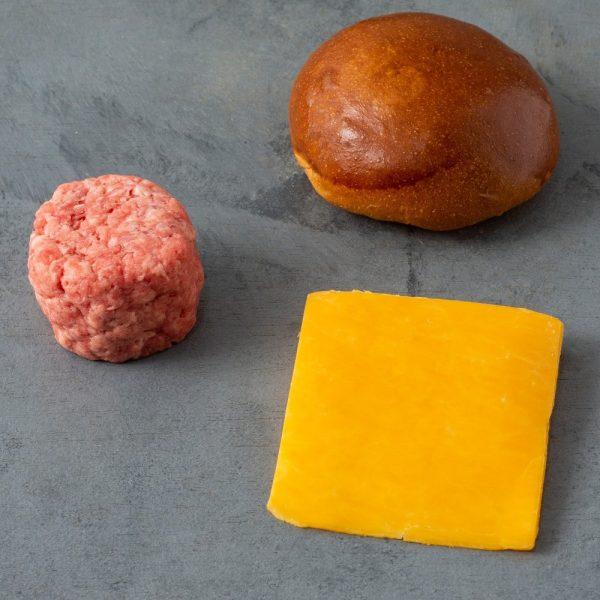 smash burger de costela - kit pão, carne e queijo